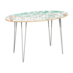 Ondine Hairpin Dining Table Mint & Copper Deco