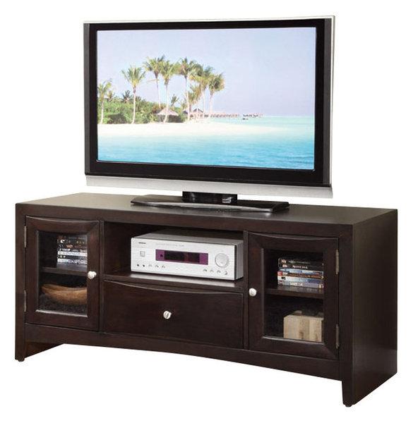 Modern Versatile Wood Entertainment Tv Stand Console Shelves Drawer