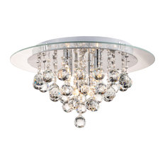 50 most popular flush mount ceiling lights for 2018 houzz 1st avenue nore flush mount crystal drop ceiling light flush mount ceiling lighting aloadofball Choice Image