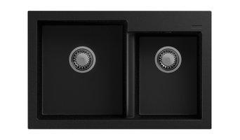 GM Sink - Bianco Metallic Topmount double bowl Granite