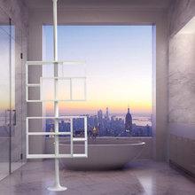 Hyllor för lägenheter mes stora glaspartier