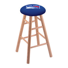 Oak Counter Stool Natural Finish With New York Rangers Seat 24-inch