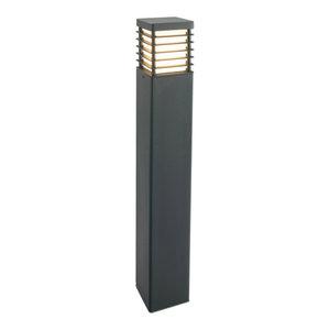 Black Large Bollard E27 - 1 x 60W E27