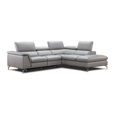 JNM Furniture   Viola Italian Leather Sectional Sofa With Power Recliner,  Right Facing Chaise