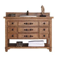 James Martin Furniture Malibu 48 Honey Alder Single Vanity Wood Top Bathroom