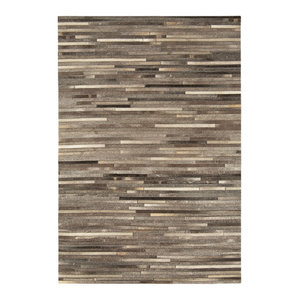Gaucho Stripe Rug, Dark Grey, 120x170 cm