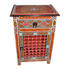 Moroccan Handmade   Moroccan Moucharabi Moucharabieh Nightstand End Table  Arabic Design Furniture   Side Tables And