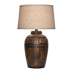 Viga   Piedra Sand Table Lamp With Shade, Dark Multi   Table Lamps