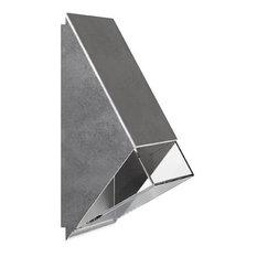 Edge Outdoor Wall Light, Galvanised Steel