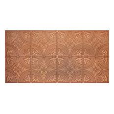 """24.5""""x48.5"""" Mercer Tin-Style Ceiling Tile, Copper"""
