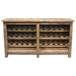 "FoxDen Decor - Harley Reclaimed Wine Rack, Espresso, 96""x20""x36"" - Display your wine collection with our beautiful Harley Wine Rack. Crafted by hand from solid reclaimed wood!"