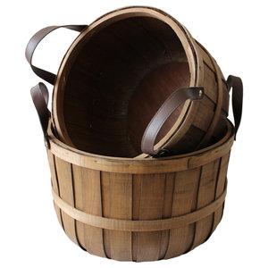 Chipwood Barrel Storage Basket, Set of 2