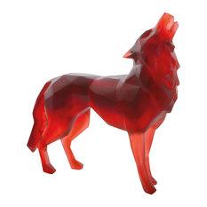 Daum Crystal Wild Red Wolf 05360
