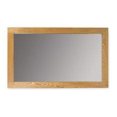 solid hereford oak medium mirror wall mirrors baumhaus mobel solid oak medium wall mirror
