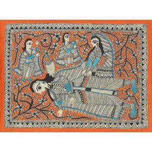 Novica the Resting Place Madhubani Painting