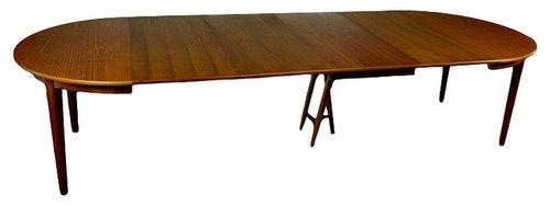 Large Extending Teak Table By Soro Stole Of Denmark Dining Tables