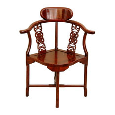 Oriental Furniture   Chinese Rosewood Corner Chair, Honey   Armchairs And  Accent Chairs