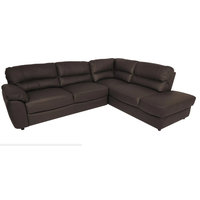 Baltica Natural Leather Sleeper Sectional, Right Corner