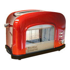 iTouchless 2-Slice See-Through Smart Toaster, Red