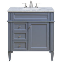 """32"""" Single Bathroom Vanity Set In Grey"""