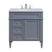 "Park Avenue 32"" Single Bathroom Vanity Set, Gray"