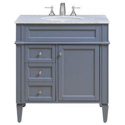 Transitional Bathroom Vanities And Sink Consoles by Elegant Furniture & Lighting