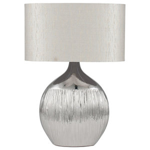 Gemini Table Lamp, Silver Finish