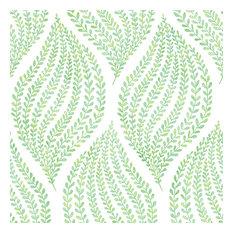 Arboretum Green Leaves Wallpaper Bolt