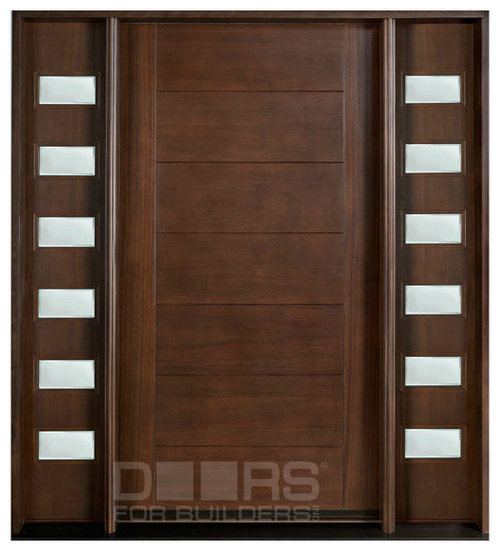 Modern collection custom solid wood doors for Solid front doors for homes