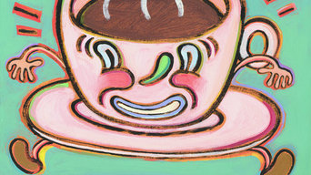 After Coffee Everything Will Fall into Place - Limited Edition Humorous Print