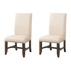 Rustic Upholstered Dining Room Chairs Houzz