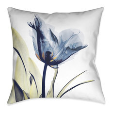 Laural Home Blue Tulip X-Ray Decorative Indoor Pillow