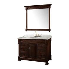 "Wyndham Collection 48"" andover Single Sink Bathroom Vanity Set, Dark Cherry"