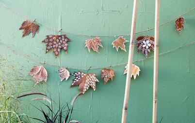 Herbstdeko aus Blättern und Zweigen: 11 inspirierende Ideen