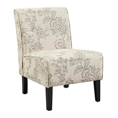 Coco Toile Accent Chair, Gray and Black