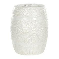 safavieh safavieh ceramic garden stool white accent and garden stools