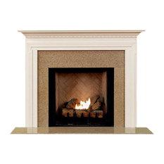 "Bravada Fireplace Mantel, White, 54""x42""x1.5"""