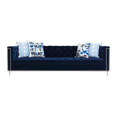 Hollywood Sofa Navy Velvet