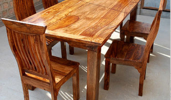 Mediterranean Eco 7 pc Transitional Dining Set