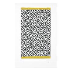 B&W Yellow Woven Vinyl Rug, 150x210 cm