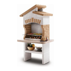 LaToscana Tupai Wood-Charcoal Grill/Fireplace Adjustable In 4 heights