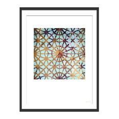 """More Hidden Treasures"" Geometric Art Print, Black Framed, 40x50 cm"