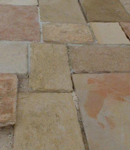 Antique Jerusalem Stone Floor