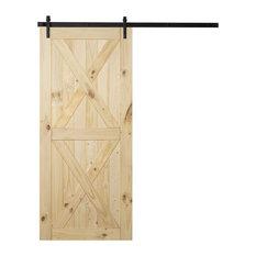"""Belleze - Modern DIY Sliding Barn Door, 36""""x84"""" - Interior Doors"""