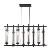 Murray Feiss Ethan 8 Light Iron / Steel Linear Chandelier - F2630/8AF/BS