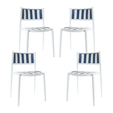 Poly and Bark Tuxedo Indoor/Outdoor Dining Chair, Set of 4