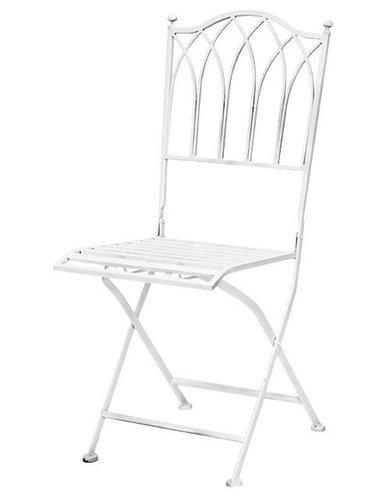 Gardenia, Stol, Vit - Udendørs klapstole