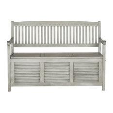 Safavieh Brisbane Outdoor Storage Bench, Gray