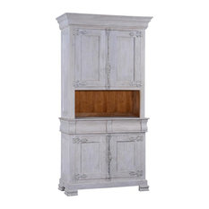 Side Cabinet Philippe White Distressed Wood French Cremone 4 Doors 2