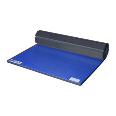 FlooringInc Roll Out Wrestling and Tumbling Mats, Royal Blue, 5'x9'x1-5/8""